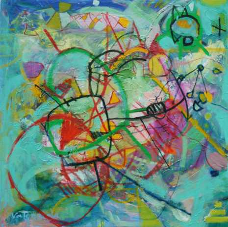 Abstract painting Cristian Valenzuela Montiglio #007