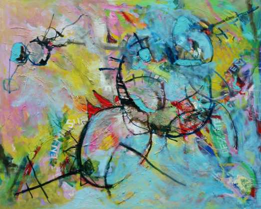 Abstract painting Cristian Valenzuela Montiglio #008
