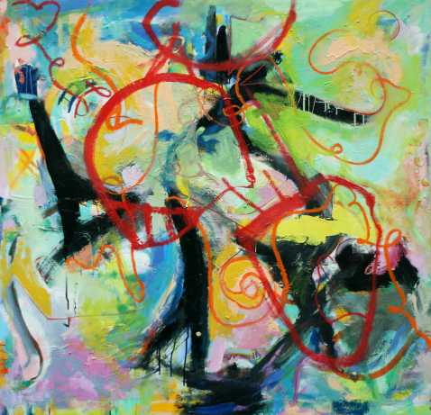 Abstract painting Cristian Valenzuela Montiglio #010