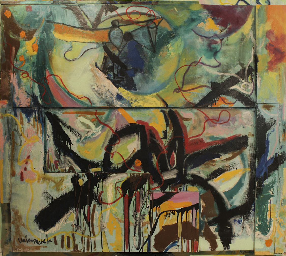Abstract painting Cristian Valenzuela Montiglio WA6